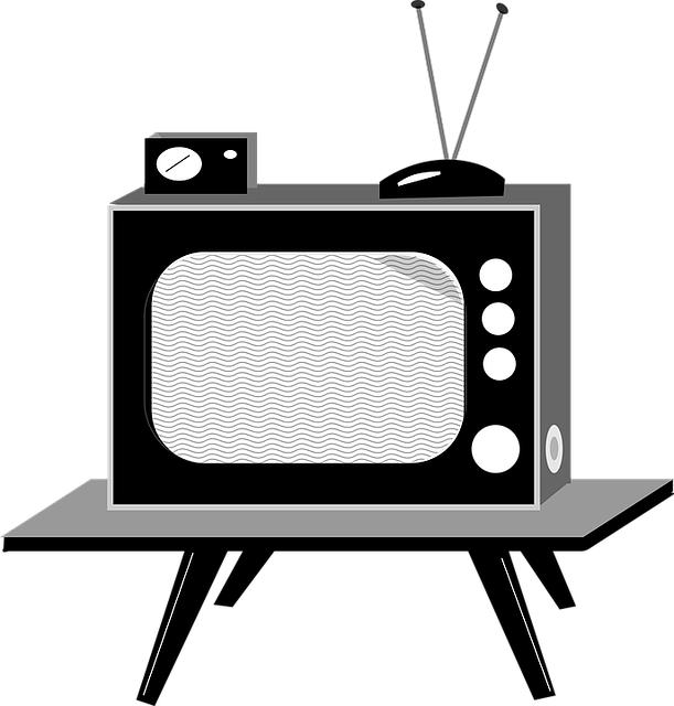 レトロなブラウン管テレビ